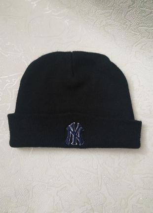 Черная шапка ny от genuine merchandise, оригинал, new york, унисекс