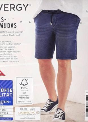 Шорты джинсовые бермуды livergy германия р. 3xl 66