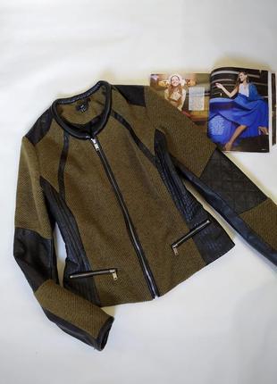 Классная куртка ,косуха ,тканевая + эко кожа !