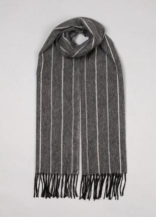 Мужской подарок кашемировый шарф шарфик, натуральный кашемир серый, унисекс dents,