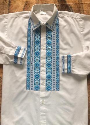 Вышиванка на мальчика, вышиванка подростковая, рубашка вышитая на подростка
