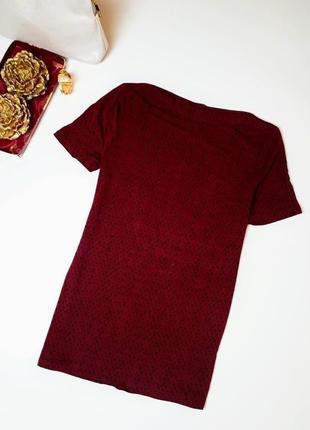 Классная блуза вырез лодочкой марсала