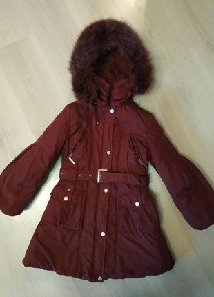 Тепле пальто для дівчинки