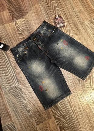 Оригинальные джинсовые шорты dsquared