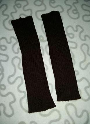 Гетры темно-коричневого цвета как новые длина 40 см