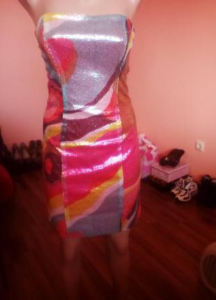 Вечернее платье в пайетки h&m