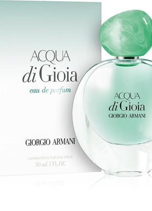 Туалетна вода  giorgio armani acqua di gioia 30 ml. оригінал!!!!