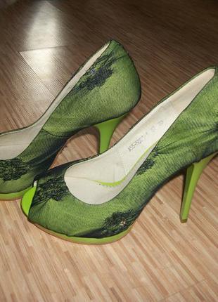 Туфли с открытым носочком  (арт: а5550014)