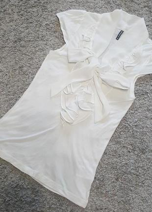Оригинал.фирменная,стильная,элегантная блуза с бантом-шарфом naf naf