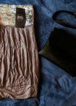 Платье туника с паетками