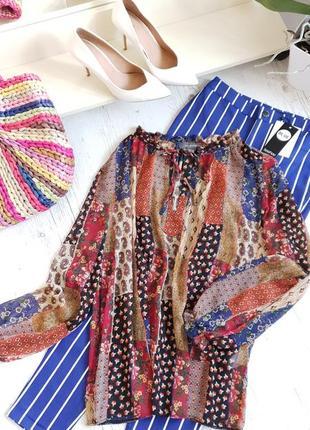 Разноцветная актуальная блуза primark
