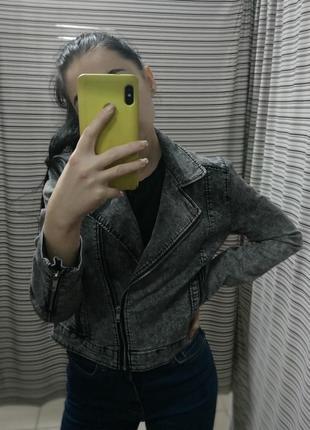Джинсовая куртка, косуха, косушка, джинсовка, сіра косуха, джинс