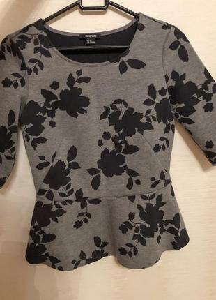 Блуза с баской ostin