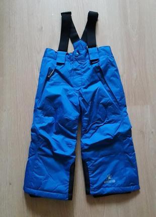 Зимний лыжный термо-полукомбинезон, штаны унисекс lupilu, германия, р.86-92, 12-24 мес.
