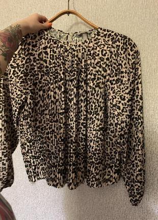 Женская блуза, животный принт леопард