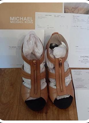 Босоножки из натуральной кожи от  michael kors оригинал! торг!4 фото