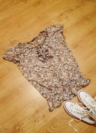 Стильная блуза коттон цветочный принт бренд   reserved