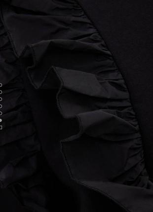 Шикарный новый чёрный свитшет с рюшами 💔5 фото