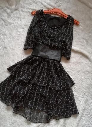 Платье шифон воланы