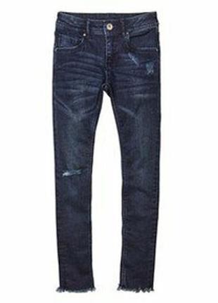 Классные синие джинсы xs 32-34 heidi klum, германия, рваные