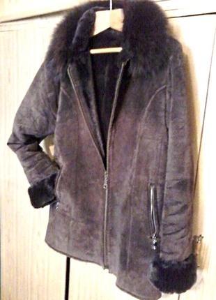 Дубленка куртка на размер 48-50 ( l-xl)