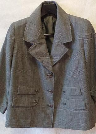 Kenzo пиджак в клетку в стиле 90-х, оверсайс
