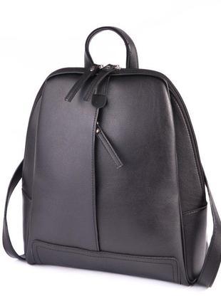 Черный женский городской рюкзак1 фото
