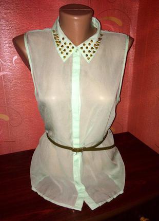 Блуза с шипами на воротнике amisu