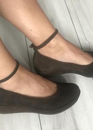 Замшевые туфли vagabond