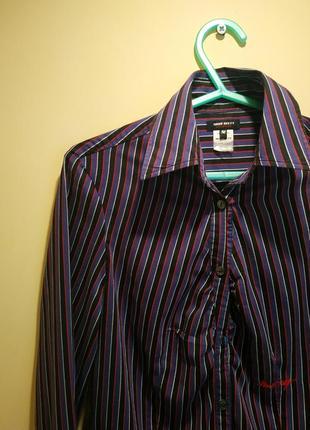 Рубашка блузка полоска фиолетовая miss sixty2 фото