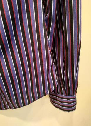Рубашка блузка полоска фиолетовая miss sixty5 фото