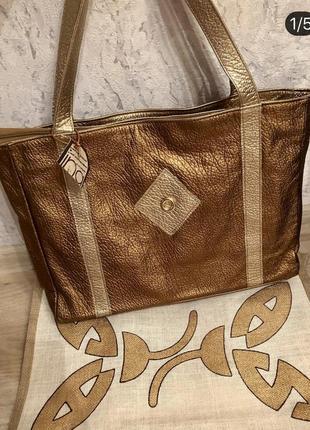 Стильная сумка италия натуральная кожа