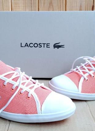 Стильные яркие новые мокасины lacoste кеды кроссовки оригинал в коробке