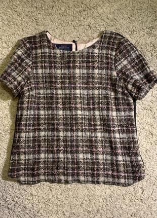 Твидовый топ / шерстяной свитер laura ashley
