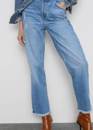 Джинси high weist jeans високая талия zara