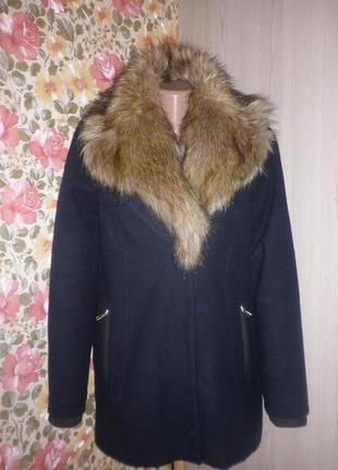 Суперське утеплене синтепоном   пальто- бойфренд від зара2