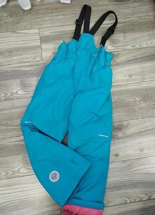 Новые лыжные штаны для девочки бирюзовые,цвета тифани,аквамарин