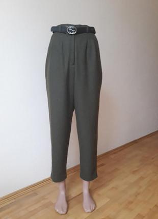 Тепленькі брюки з завищеною талією