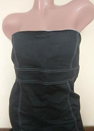 Платье бюстье черное, классическое черное платье с открытыми плечами
