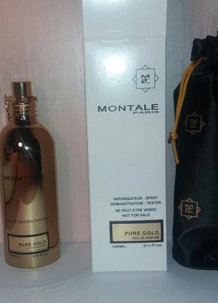 Тестер - парфюмированная вода montale pure gold (монталь пур голд) 100 мл