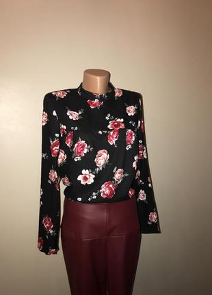 Блуза h&m в розы