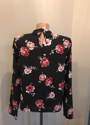 Блуза h&m в розы2 фото