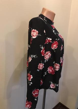 Блуза h&m в розы3 фото