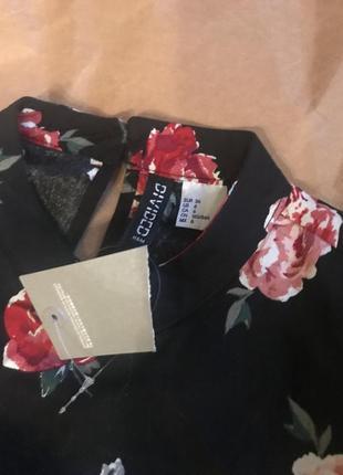 Блуза h&m в розы4 фото