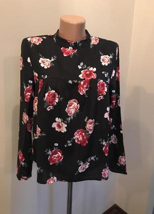 Блуза h&m в розы5 фото
