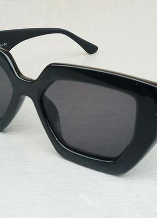 Fendi очки женские солнцезащитные черные