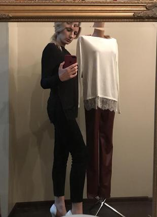 Пуловер h&m с кружевным низом