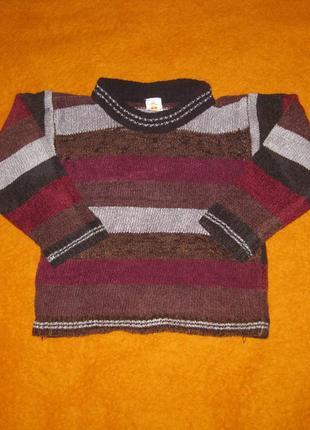 Темный свитер на мальчика, поверх других одежд, на весну, средне теплый