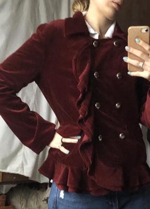 Винтажный пиджак велюр бархат винтаж велюровый бархатный жакет