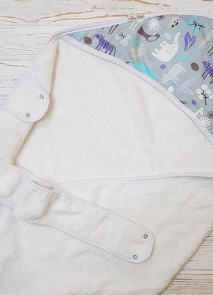Полотенце для ребенка от рождения до 5лет с удобной лямкой для мамы